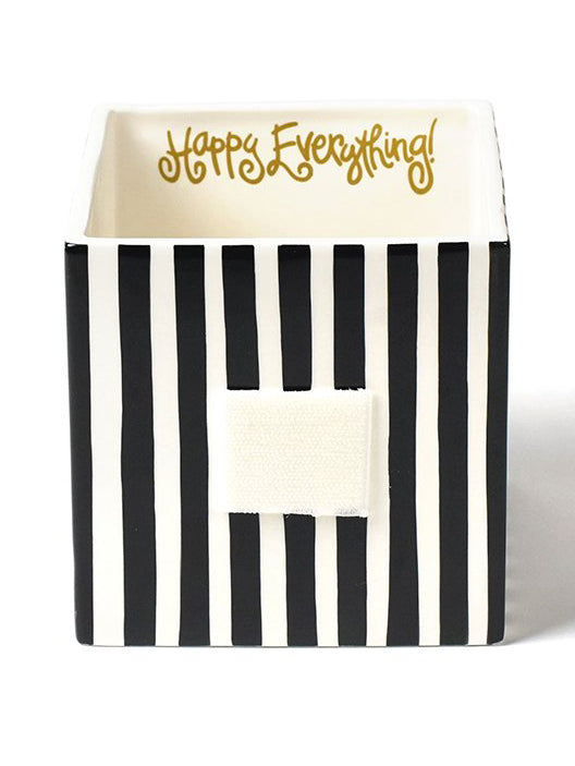Black Stripe Mini Nesting Cube - Medium