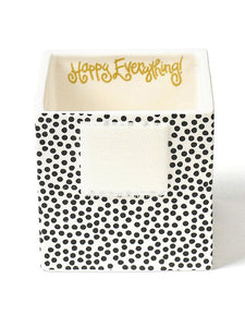 Black Small Dot Mini Nesting Cube- Small