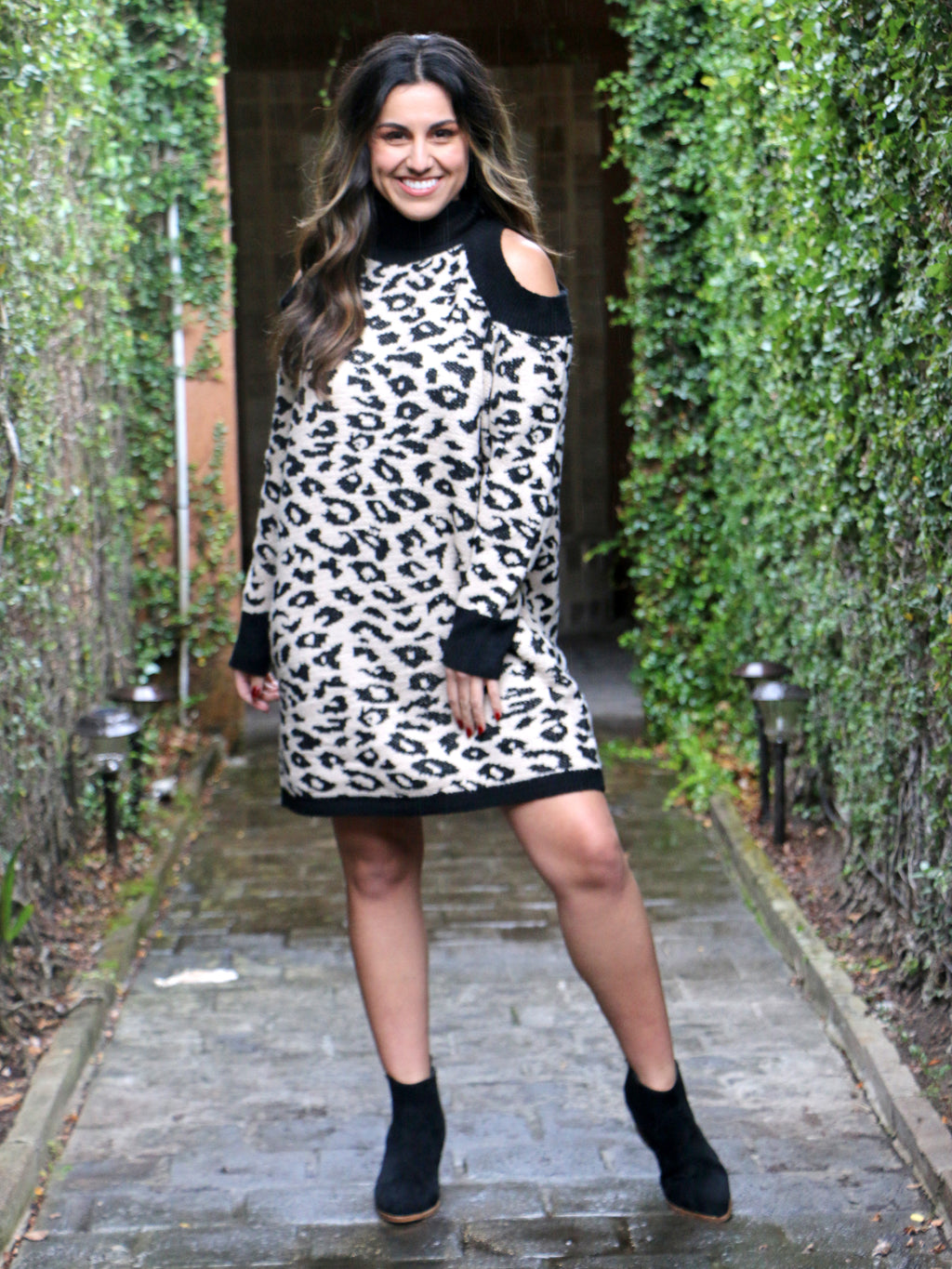 No Apologies Cheetah Sweater Dress