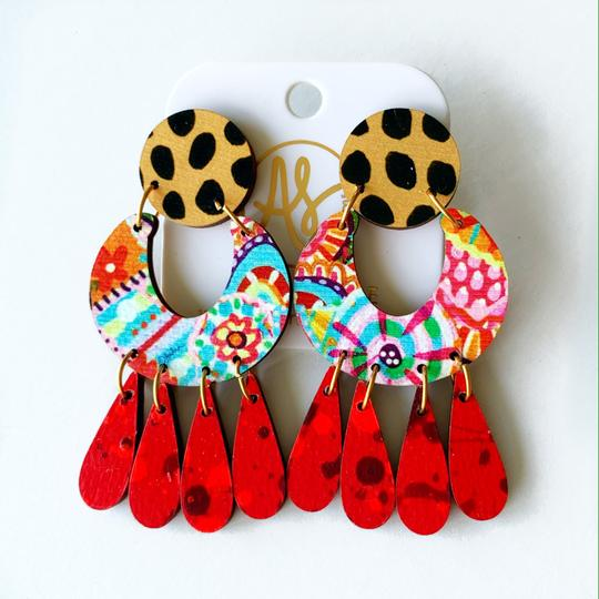The Gayle Earrings in Red Clover