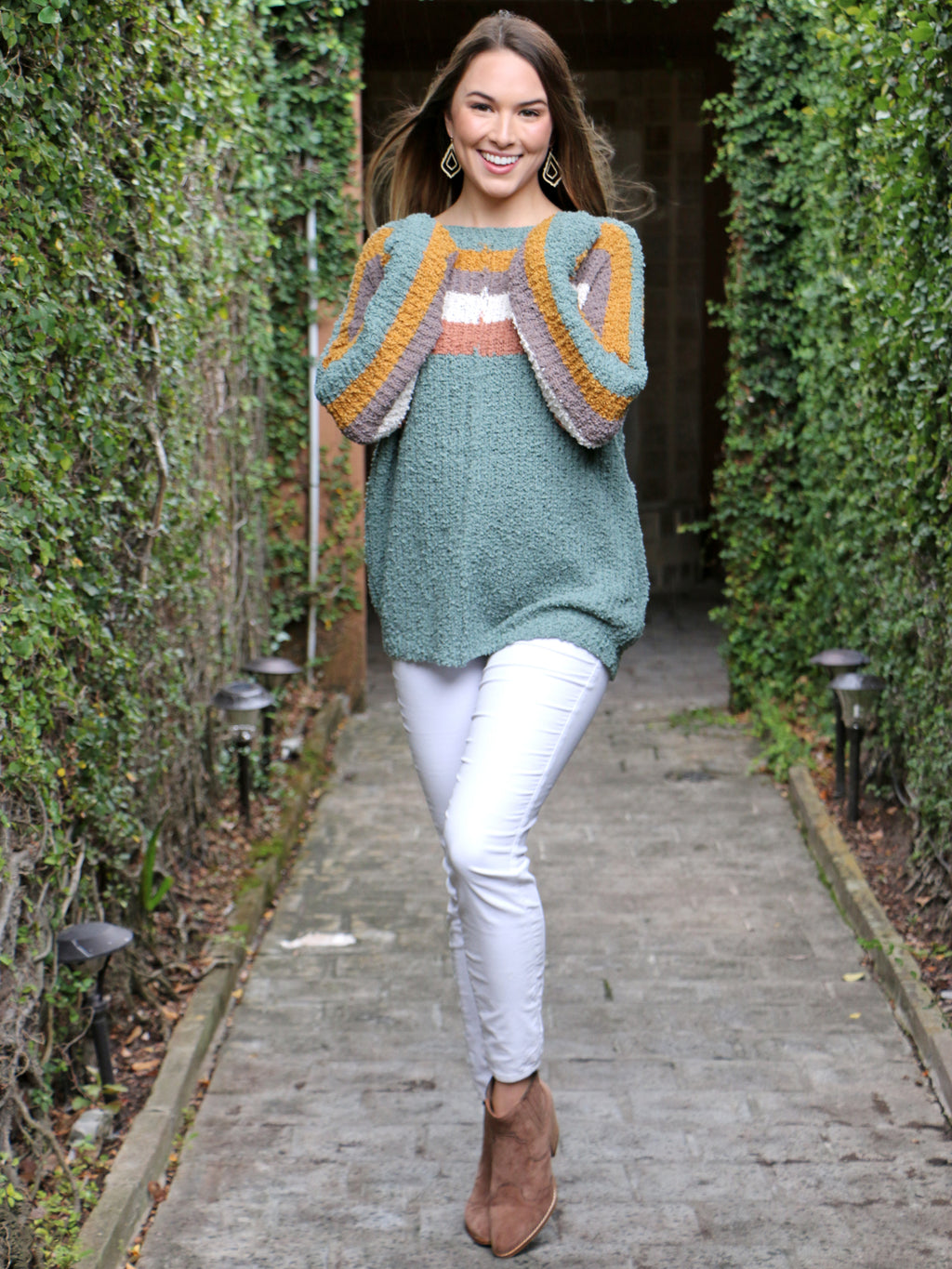 Seasons Are Changing Sweater in Deep Sage