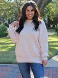 She's the Center Of Attention Sweater in Cream
