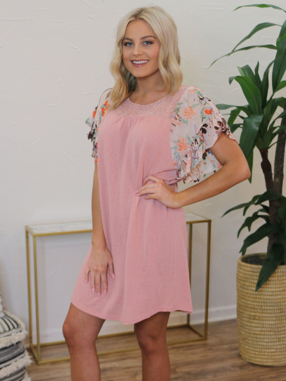 Short and Sweet Dress in Blush