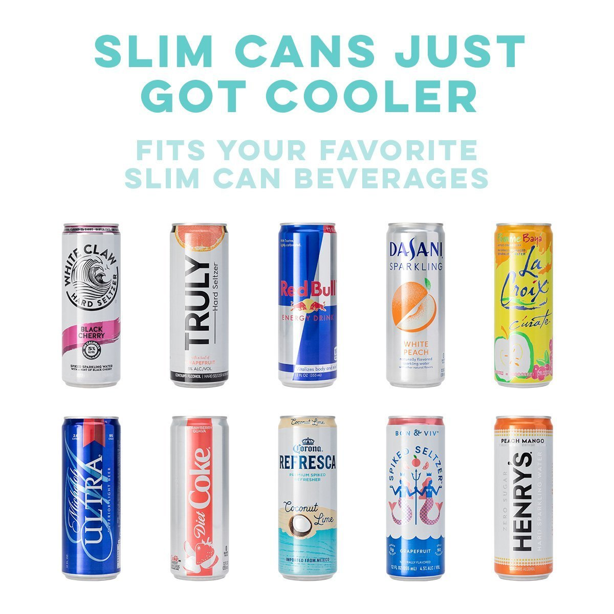 Let it Glow Swig Skinny Can Cooler