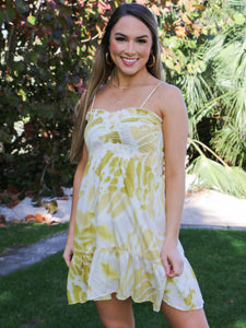 Sunburst Tie Dye Dress