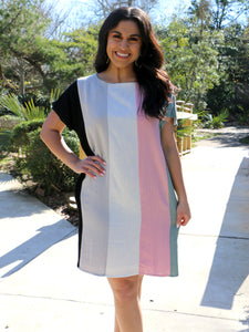 Sweetheart Multi Stripe Dress