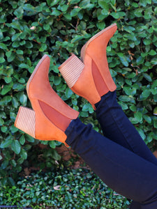 The Gabby Booties in Cognac