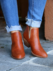 The Kate Booties in Cognac