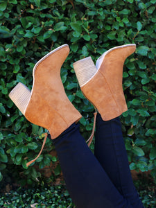 The Reese Booties in Camel