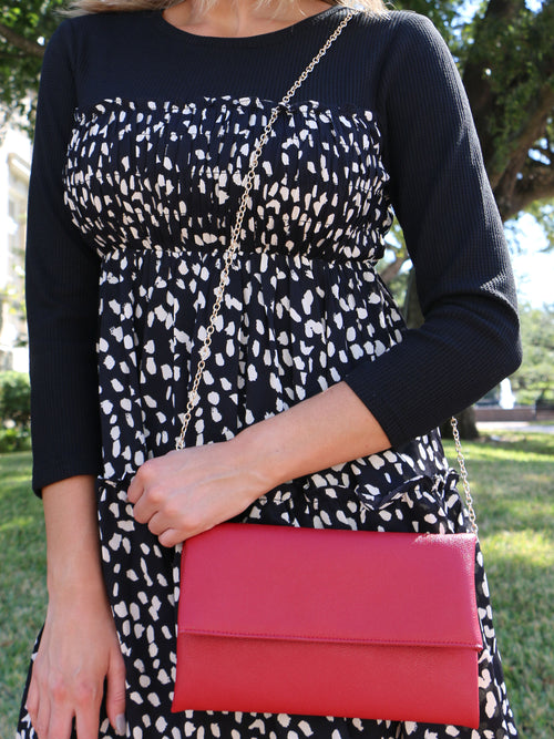 The Blythe Handbag in Red