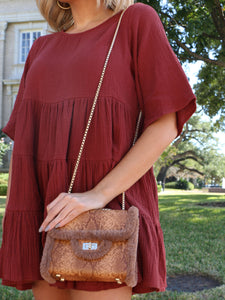 The Skylar Handbag in Caramel
