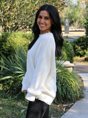 Thinking About Tomorrow Sweater in Ivory