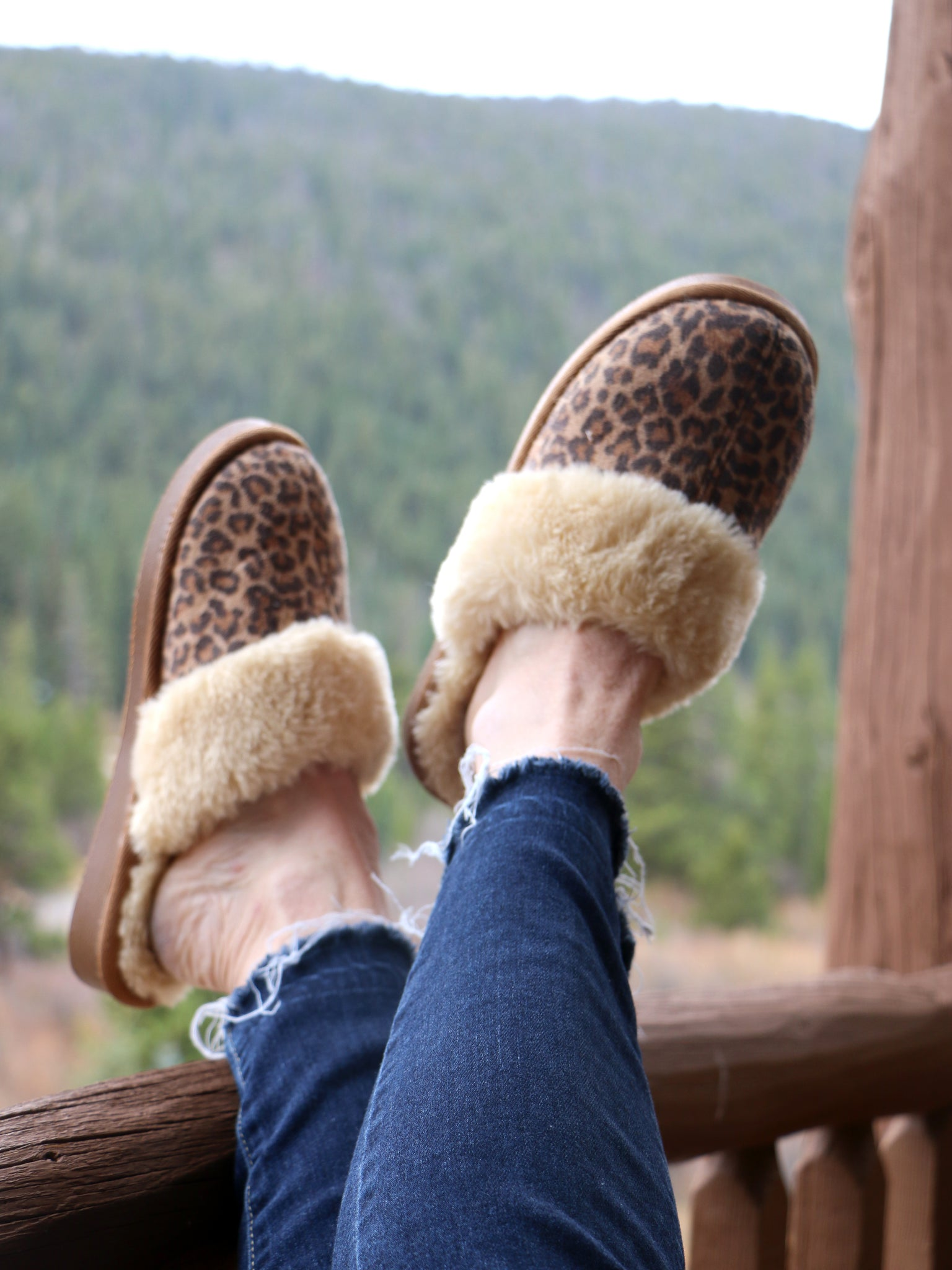 Time to Snooze Slippers in Leopard