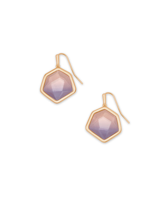 Rose Gold Vanessa Small Drop Earring in Peach Ombre