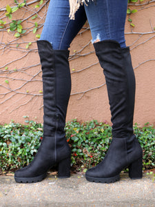 Walk All Over You Boots in Black