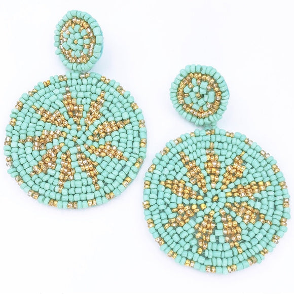 The Wayuu Earring in Turquoise