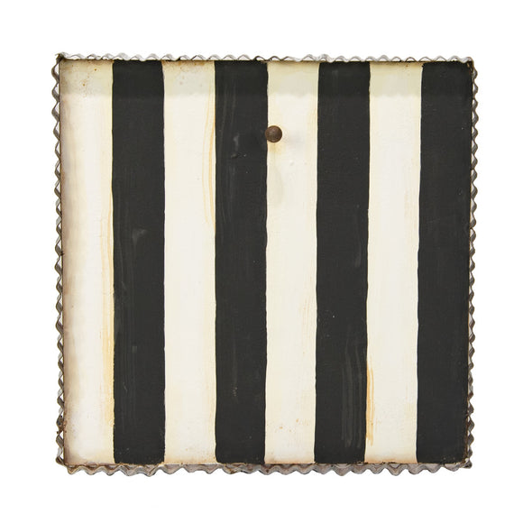 Black And White Striped Display Board