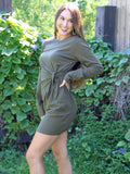 You're Looking Good Dress in Olive