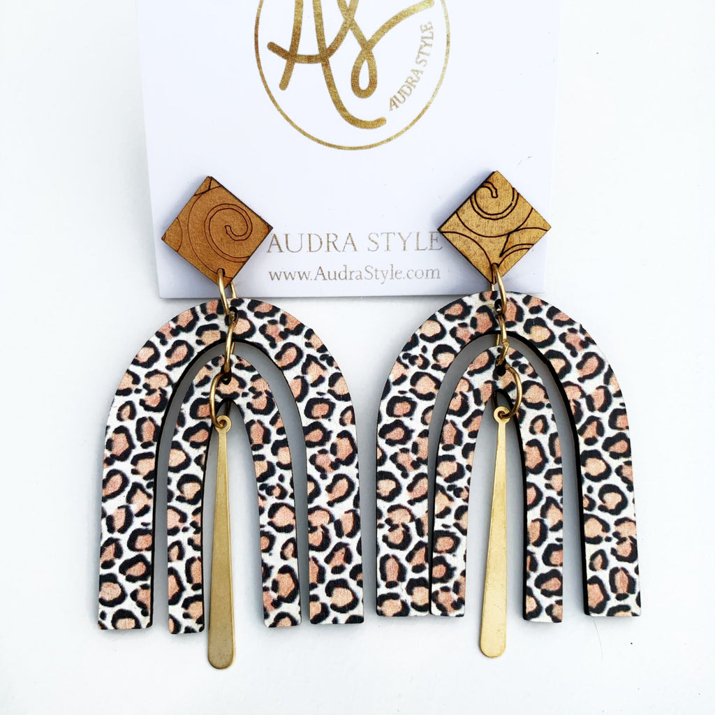 The Dorothy Earrings in Leopard