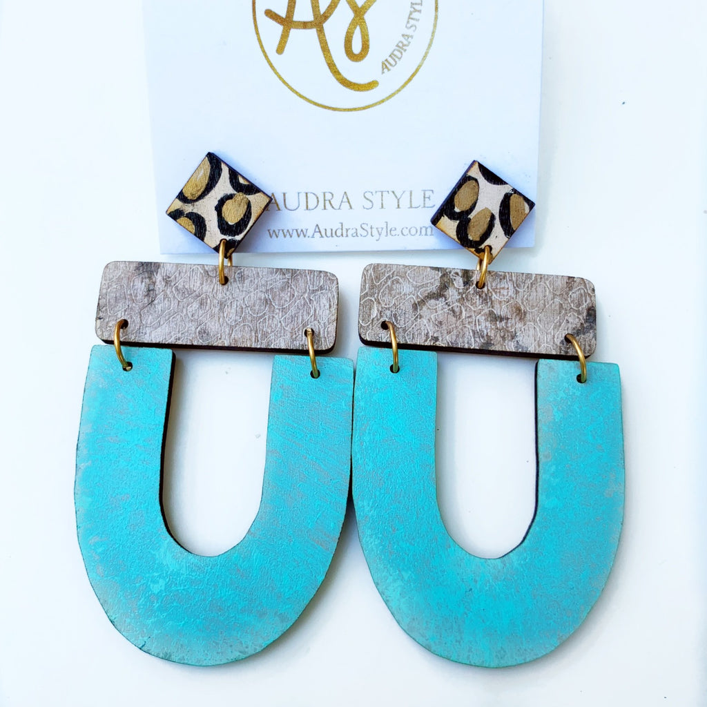 The Abby Earrings in Patina