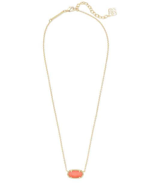 Elisa Necklace in Gold Bright Coral