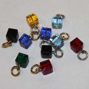 Ruby Red Cube charms