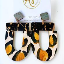 The Abby Earrings in Leopard