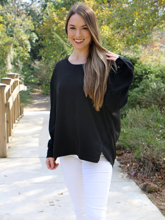 Early Riser Top in Black