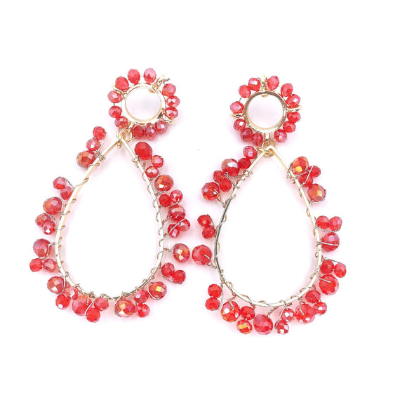 The Corrine Earring in Red