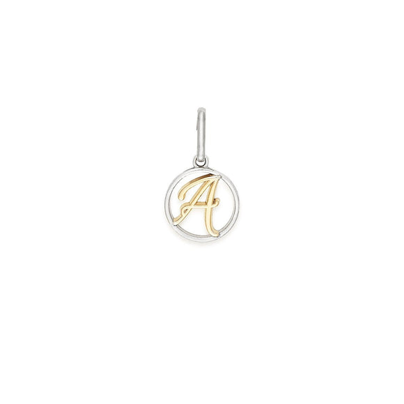 Two Tone Initial Charm