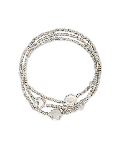 Tomon Bracelet Set in Rhodium White Mix