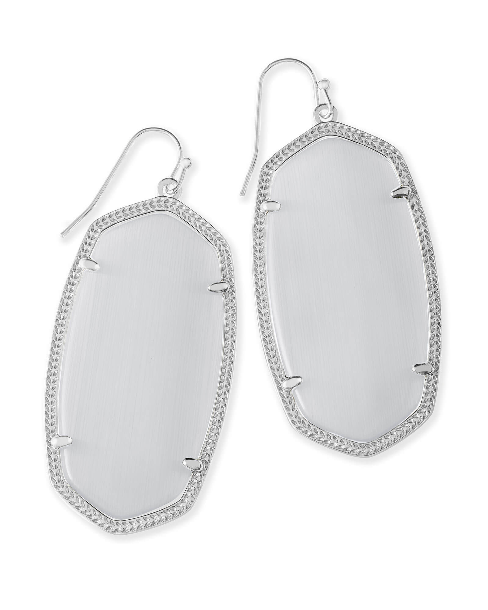Danielle Earrings in Rhodium
