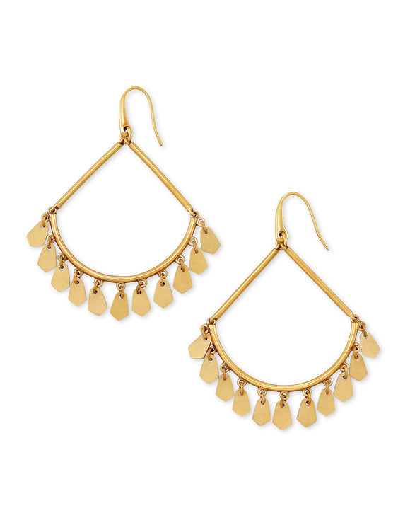Sydney Open Frame Earring in Vintage Gold