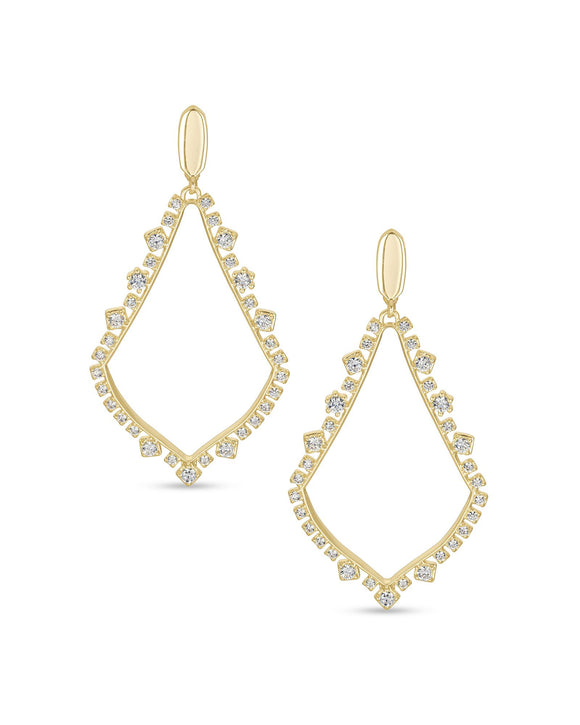 Sophee Crystal Clip On Earring in Gold