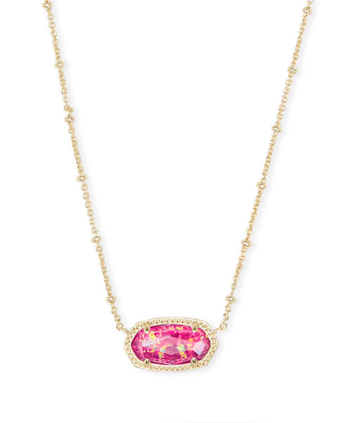 Elisa Gold Satellite Necklace in Berry Opal