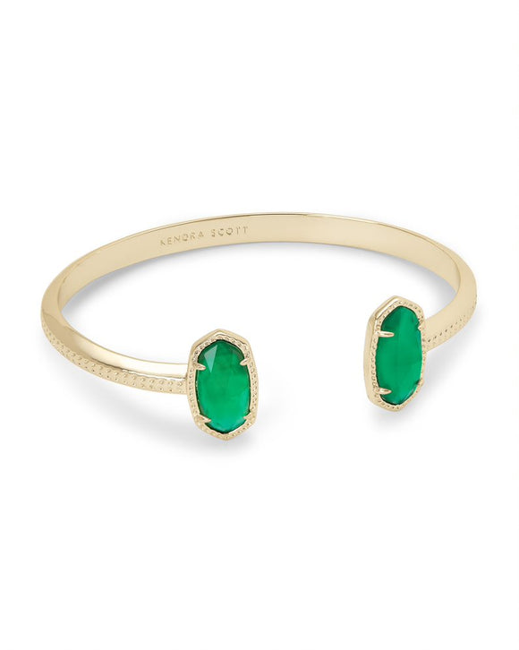Gold Elton Bracelet In Jade Illusion