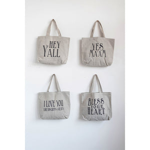 Southern Saying Canvas Tote Bags