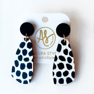The OG Earrings in Black Dot