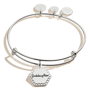 Because I Love You Goddaughter Bracelet in Silver