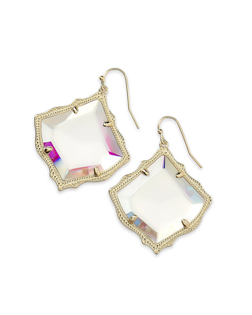 Kirsten Drop Earrings In Dichroic Glass