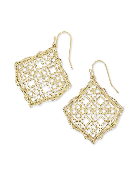Kirsten Drop Earrings In Filigree
