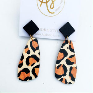 The OG Earrings in Leopard