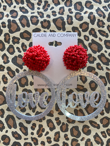 So Loved Pom Earrings
