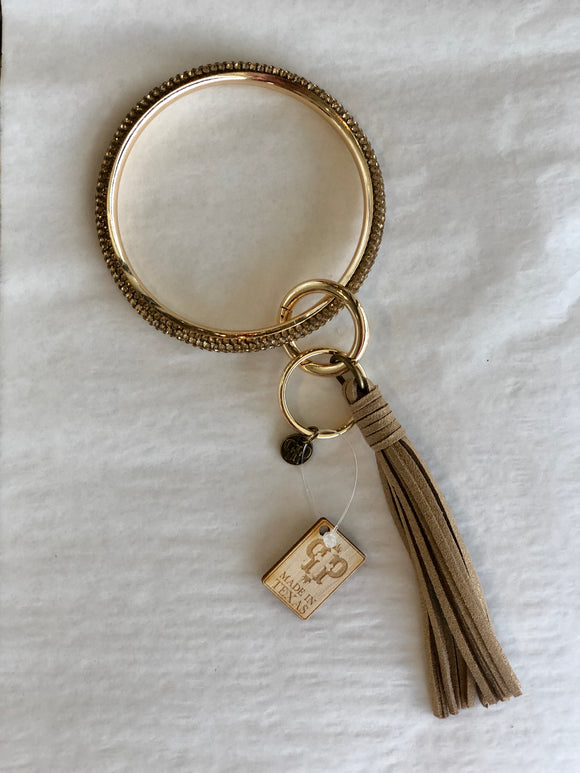 The Katy Key Ring in Gold