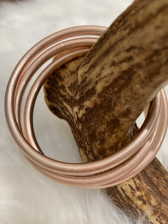 The Bangle Bracelet Set in Rose Gold