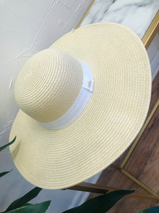 Nantucket Sun Hat in Natural Light/ White