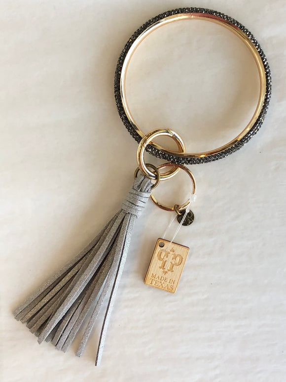The Katy Key Ring in Gunmetal