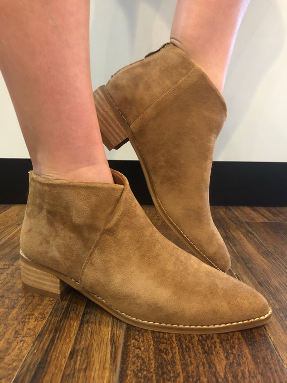 The Charlie Booties in Taupe