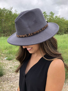 On The Go Fedora in Dark Grey