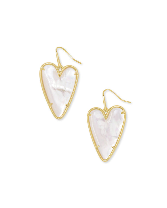 Ansley Drop Earring in Gold Ivory Mother of Pearl